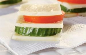 Layered Sandwich of Veggies and Havarti