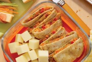 Salmon and Provolone Mini Quesadillas