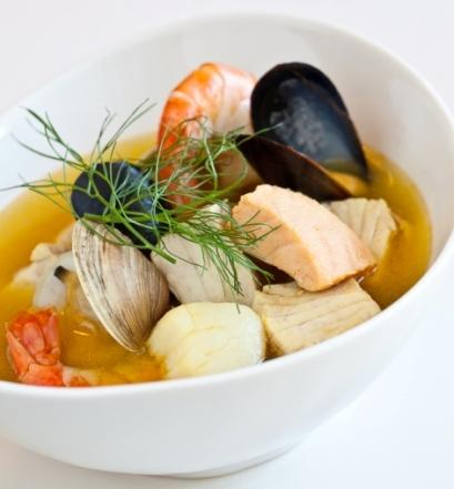 Soups. Bouillabaisse