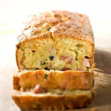 13. Comté cheese and ham cake