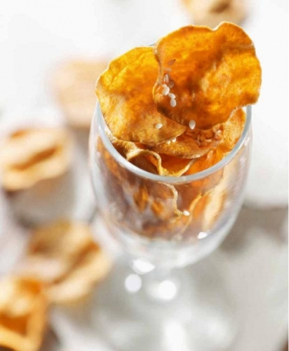 19. Sweet potato chips with sesame