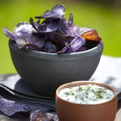 20. Vitelotte (type of violet potatoes) chips